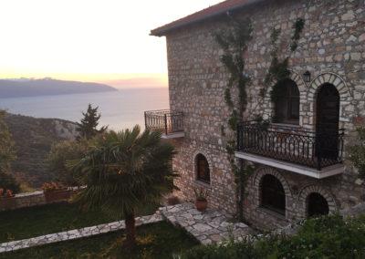 Garden, balconies and view